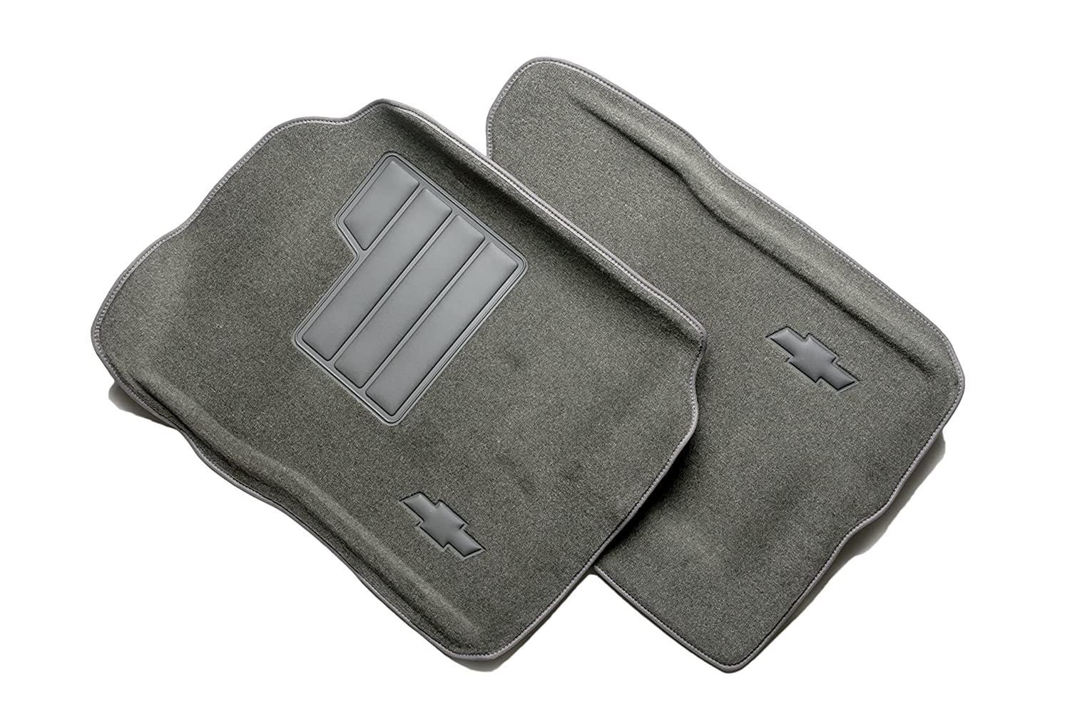 GM Accessories 12498798 Front Carpeted Floor Mats in Dark Pewter with Bowtie Logo General Motors