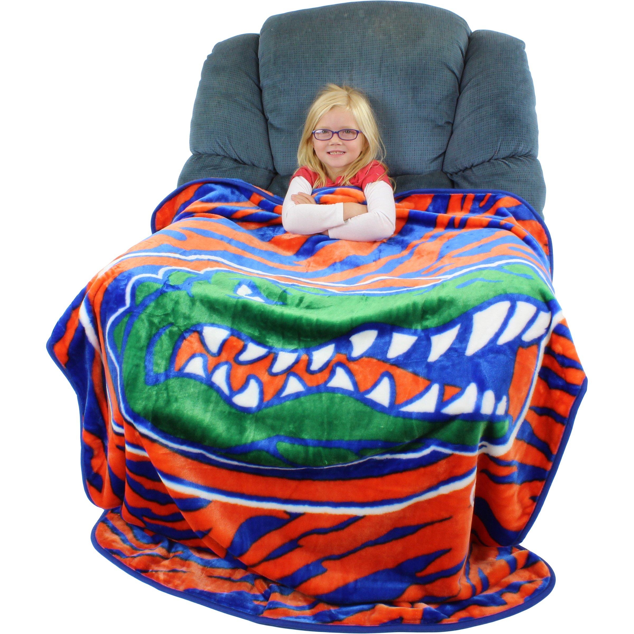 College Covers Florida Gators Super Soft Raschel Throw Blanket, 50'' x 60''