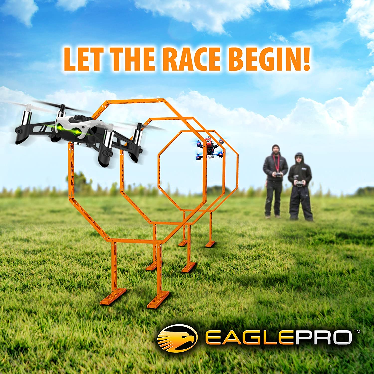 Drone Racing Obstacle Course Easy To Build Racing Drone Kit Create Your Own Drone Racing League Suitable Drone Games For Kid Or Adults Amazon