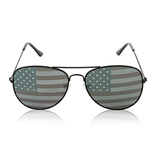 0d7e795de13 Amazon.com  Mens Patriot Patriotic American Flag Glasses Patriotism Novelty  Decorative Black  Clothing