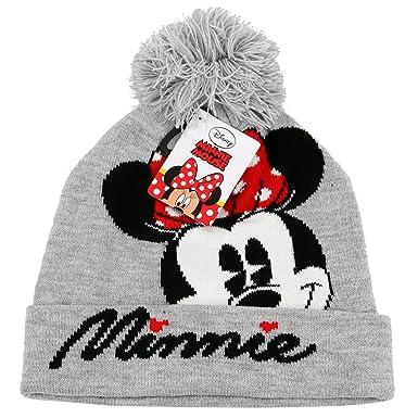 8ebb6ccf ... store girls ladies womens disney minnie mouse grey beanie bobble hat  5b61e 459df