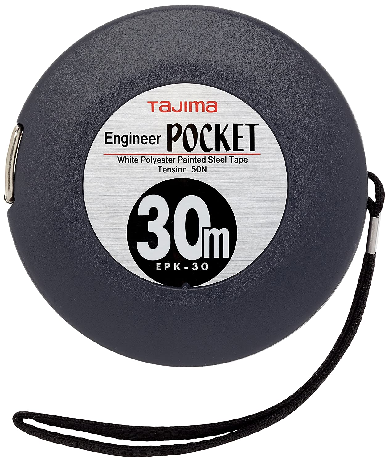Tajima EPK30MW'Engineer Pocket' Long Tape, Grey, 30 m x 10 mm