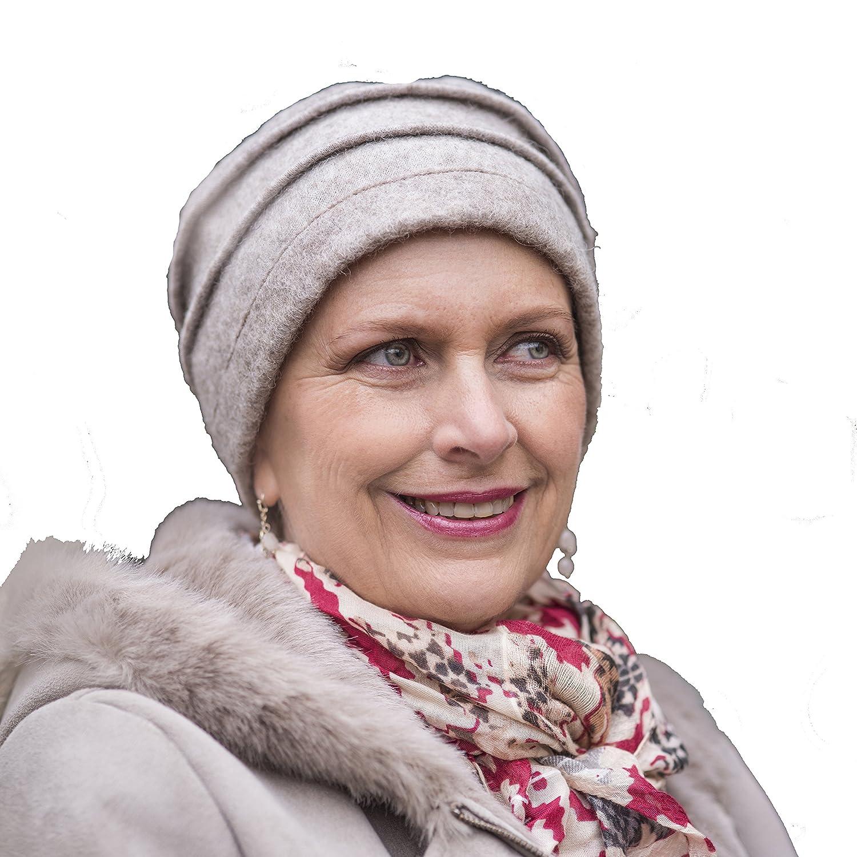 Berretto 100% di lana Zoe beige con rivestimento interno molto morbido ed  assorbente.: Amazon.it: Sport e tempo libero