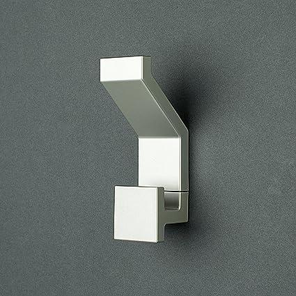 Attaccapanni In Plastica.Appendiabiti Square By Kreall Finitura Color Alluminio Confezione