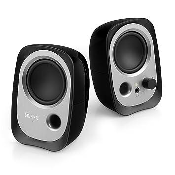 EDIFIER R12U - Set de altavoces con conexión de auriculares y control de volumen integrado. Color negro.: Amazon.es: Electrónica