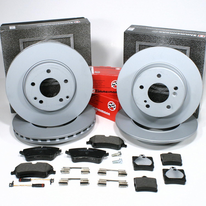 Zimmermann Bremsscheiben Coat Z/Bremsen + Bremsbelä ge + Sensoren fü r vorne + hinten Autoparts-Online