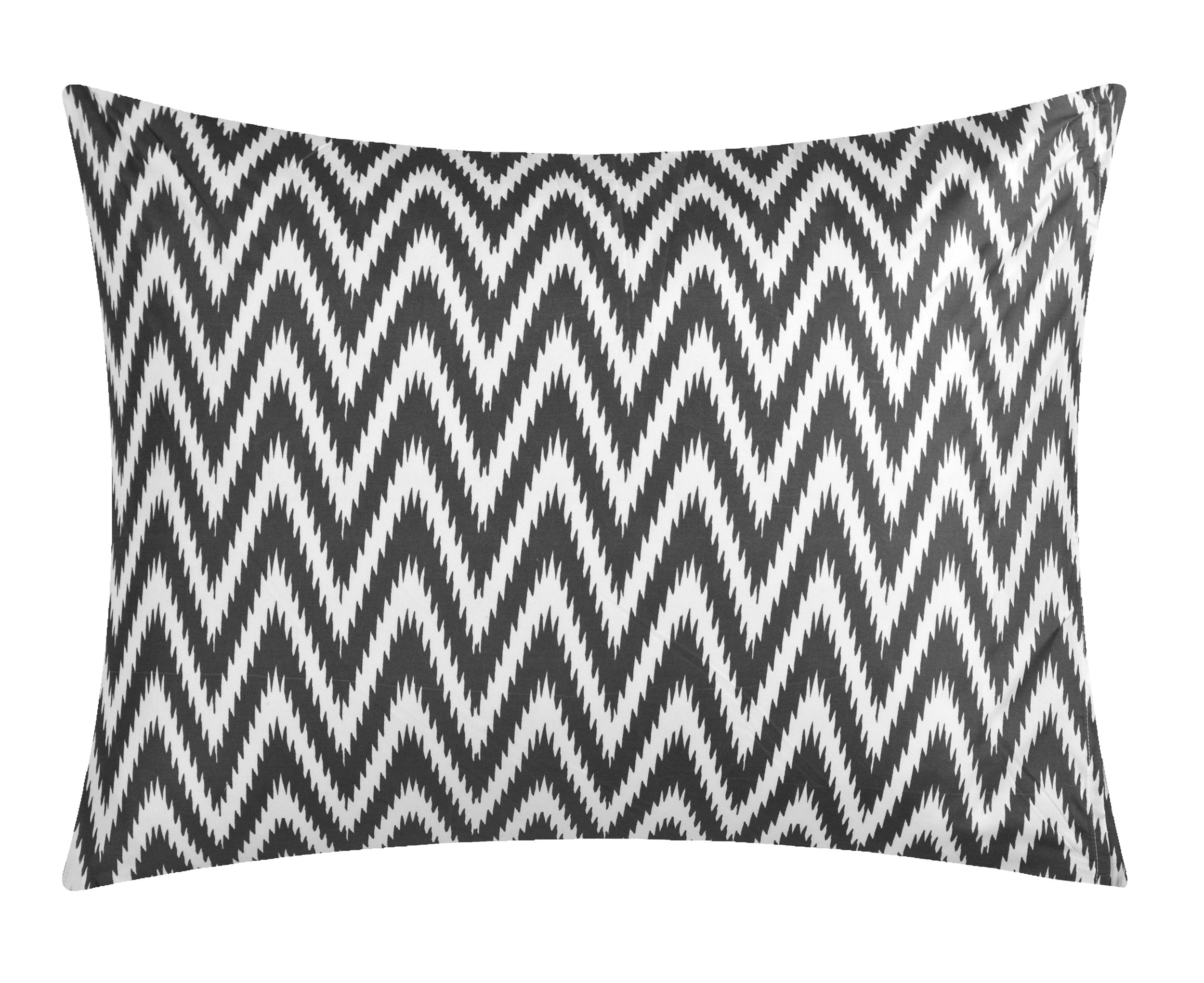 Chic Home CS0586-AN 20 Piece Jacksonville Complete Bed Room In A Bag Super Pinch Pleated Design Reversible Chevron Pattern Comforter Set, Sheet, Window Treatments And Decorative Pillows, Queen, Grey by Chic Home (Image #8)