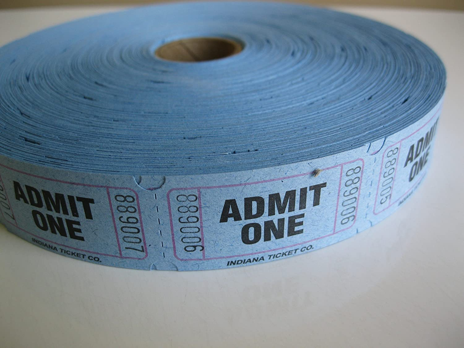 Amazon.com : 2000 Blue Admit One Single Roll Consecutively Numbered ...