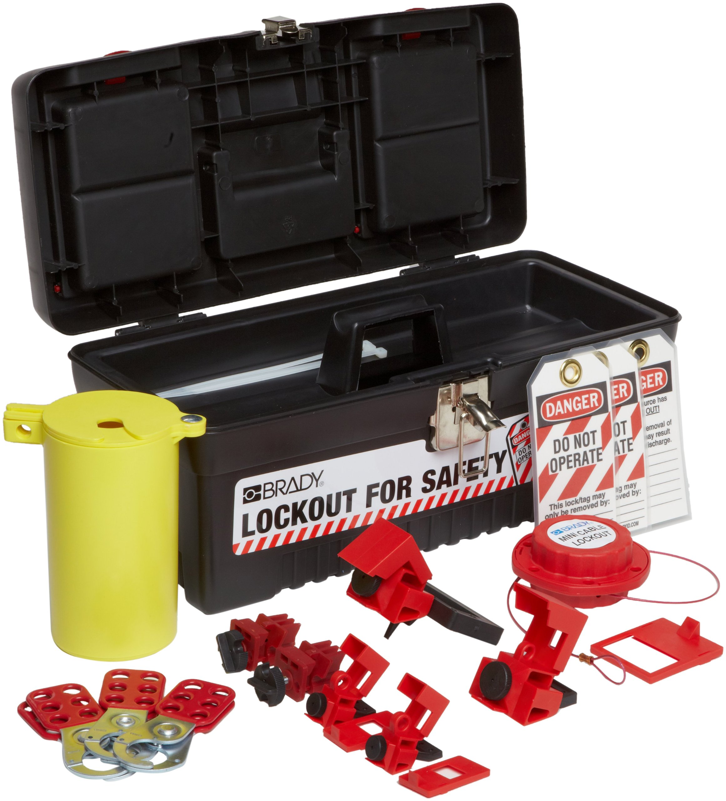 Brady Personal Electrical Lockout Toolbox Kit, Padlocks Not Included