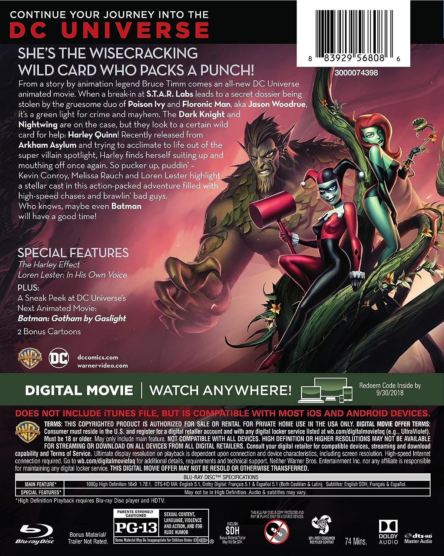 Dcu: Batman & Harley Quinn Edizione: Stati Uniti Italia Blu-ray: Amazon.es: Melissa Rauch, Paget Brewster, John Dimaggio, Kevin Michael Richardson, ...