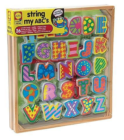 Other Alphabet & Language Toys Alphabet & Language Alex Little Hands String My Abcs Educational Toy For Preschoolers Alex New