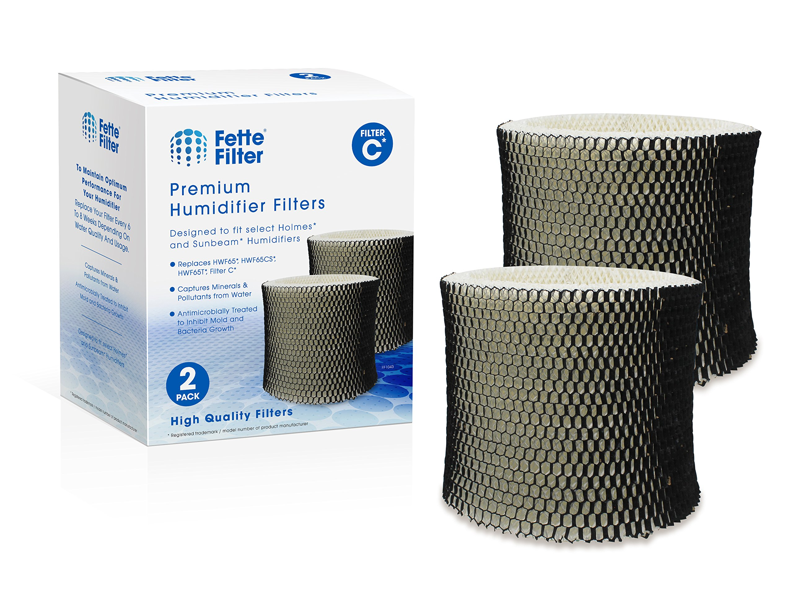 2-Pack - Holmes HWF65, HWF65PDQ-U Compatible Humidifier Filter - Filter C