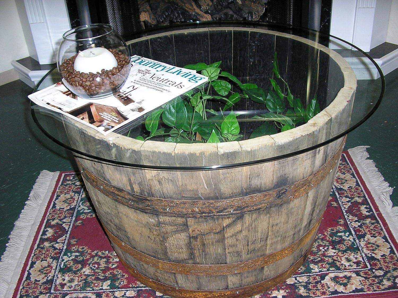 Amazoncom Vintage Half Whiskey Barrel Coffee Table End Table C30