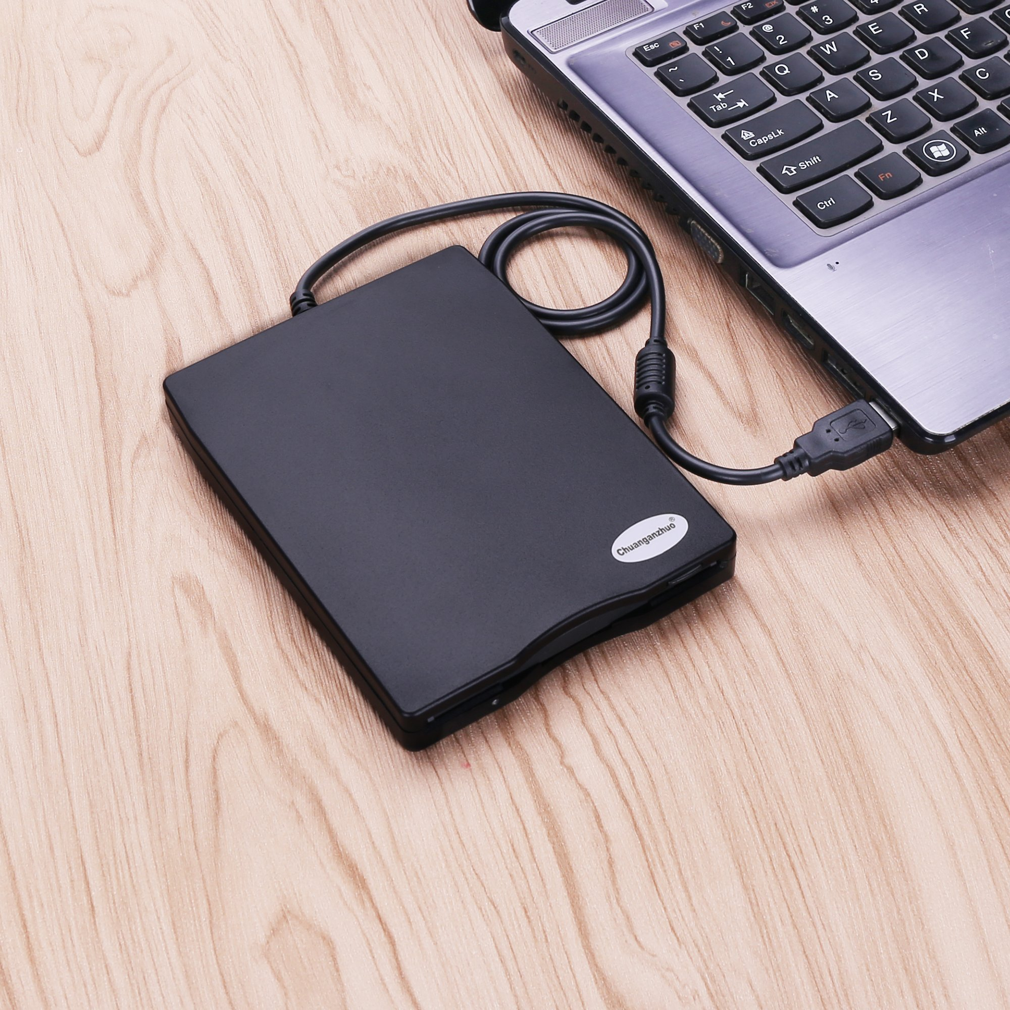 3.5'' USB External Floppy Disk Drive Portable 1.44 MB FDD PC Windows 2000/XP/Vista/7/8/10 Mac,No Extra Driver Required,Plug Play,Black by Chuanganzhuo (Image #7)