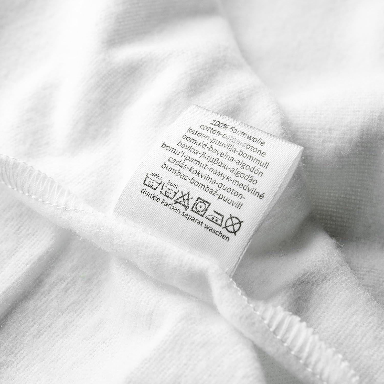 Paño algodón bebé / Muselina franela - 5 Ud, 80x80 cm, blanco ...