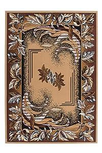 Lalee 347054787, Tappeto classico con fantasia orientale, Beige (beige), 80 x 150 cm