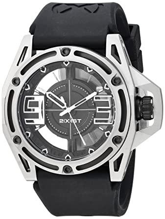 2(X) IST NYC Titanium Quartz Stainless Steel and Silicone Casual Watch