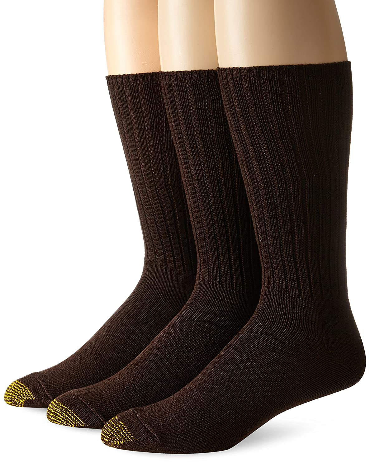 Gold Toe Men's Cotton Fluffies Casual Sock, 3-Pack 633e