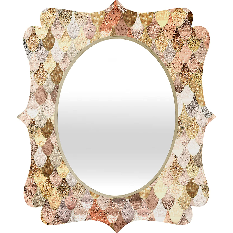 Deny Designs Monika Strigel Really Mermaid Gold Quatrefoil Mirror 28 x 23