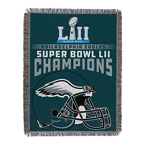 df7f4a62bab The Northwest Company Officially Licensed NFL Philadelphia Eagles Super  Bowl 52 Champions Woven Tapestry Throw Blanket