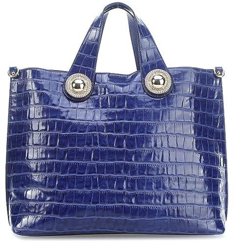 497bae917c Versace Jeans Handbag Blue: Amazon.co.uk: Shoes & Bags