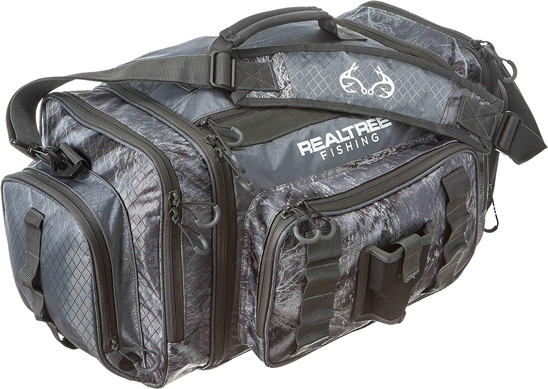Realtree Fishing i4 Tackle Bag 3700 Series Slate Gray with 3 i3700 Bait Trays