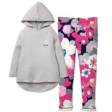 aeee2256d6d70 Amazon.com: Gymboree Girls' 2-Piece Bundle Snowflake Hooded Tunic + ...
