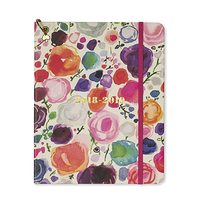 Kate Spade New York Womens Floral Large August to August Agenda Planner