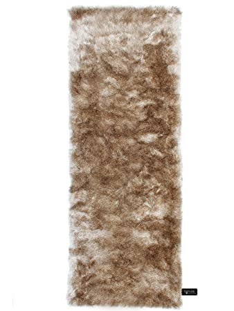 Läufer 80x300 benuta shaggy hochflor teppich whisper läufer hellbraun 80x300 cm