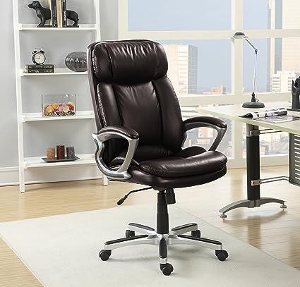 W Serta 43675A Executive Office Chair Big U0026 Tall Chestnut