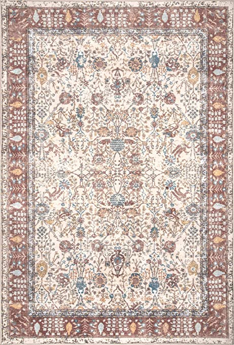 Nuloom Catherine Traditional Area Rug 8 X 10 Ivory Furniture Decor