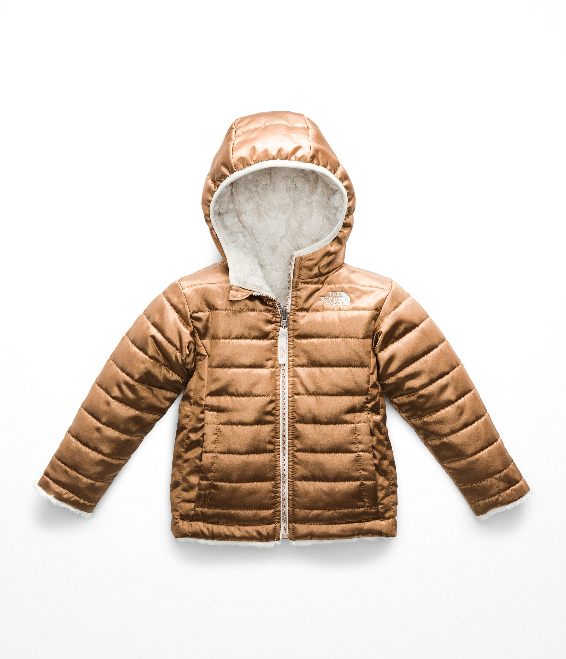 c671a411e The North Face Todd Girl's Reversible Mossbud Swirl Jacket - Metallic  Copper - 2T