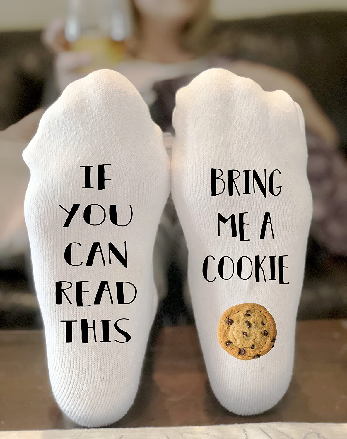 If You Can Read This Bring Me A Cookie Novelty Funky Crew Socks Men Women Christmas Gifts Cotton Slipper Socks
