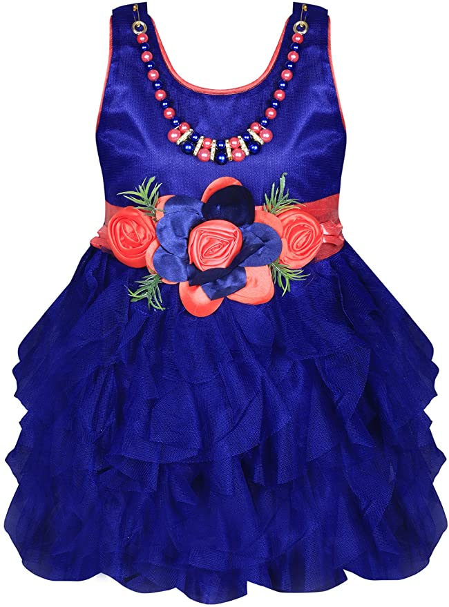 MPC Cute Fashion Baby Girl's Satin and Sifone Frock Dress for Girls' Dresses & Jumpsuits at amazon