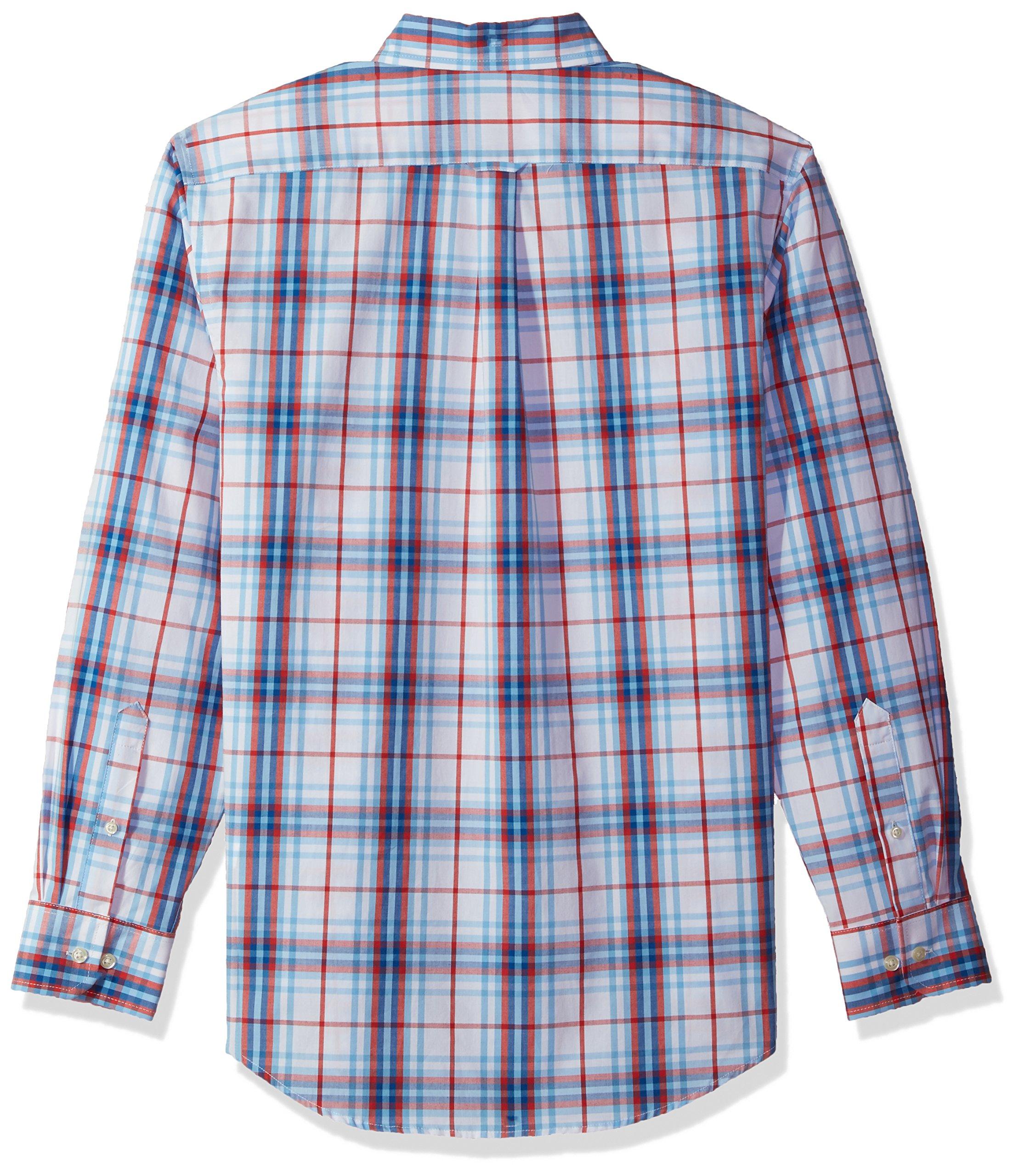 Izod Mens Essential Check Long Sleeve Shirt Regular And Slim Fit