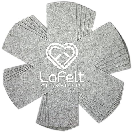 LoFelt - Protección apilable para sartenes, ollas y Cuencos de Fieltro - XL 32cm -