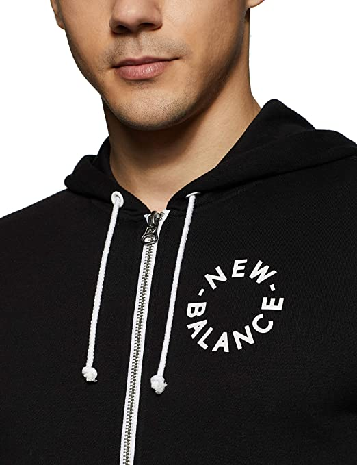 edfd992ee62c7 Amazon.com: New Balance Mens Nb Core Fleece FZ Hoodie: Clothing