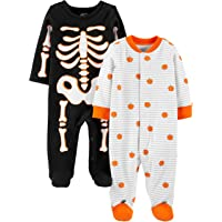 Simple Joys by Carter's 2-Pack Cotton Footed Sleep and Play Unisex bebé, Pack de 2