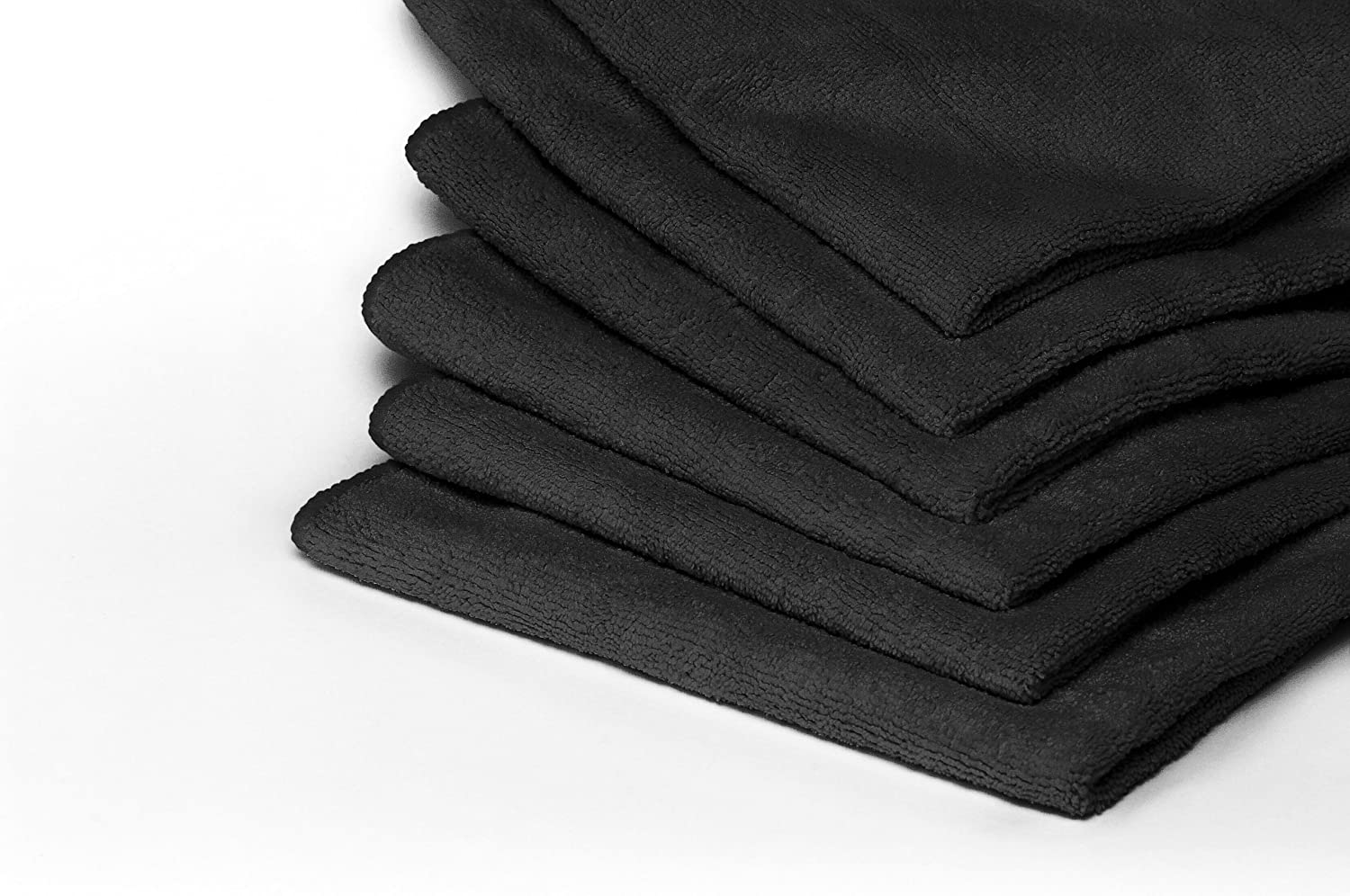 Heininger 5403 GarageMate Black Microfiber Towel, (Pack of 40)