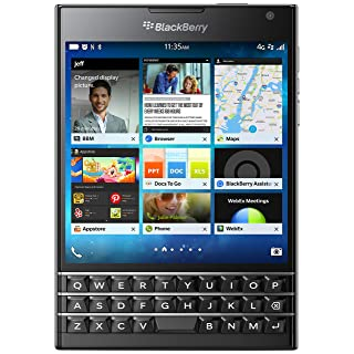 BlackBerry Passport 32GB Factory Unlocked (SQW100-1) GSM 4G LTE Smartphone - Black (International Version, Blackberry OS)