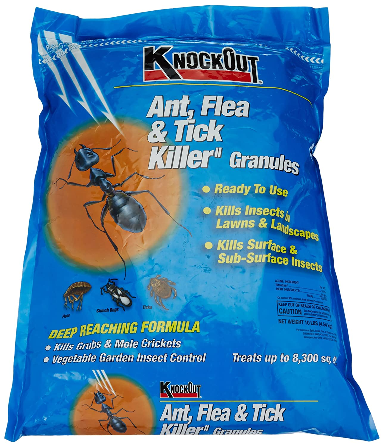 Amazon.com : Knock Out 342031.0 Ant, Flea and Tick Killer Granules ...