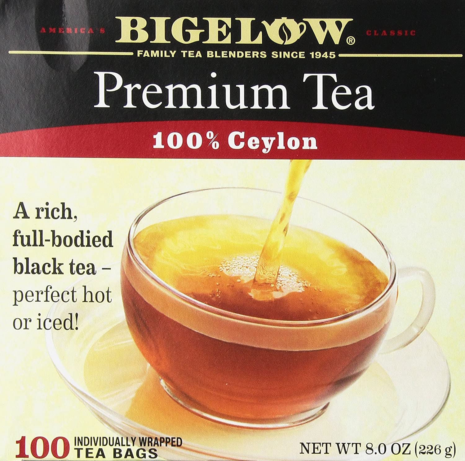 Bigelow 100 Count Premium Blend Black Tea, Contains 100 Individually Wrapped Tea Bags