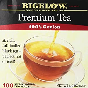 Bigelow 100 Count Premium Blend Black Tea, Contains 100 Individually Wrapped Tea Bags, Full Caffeine