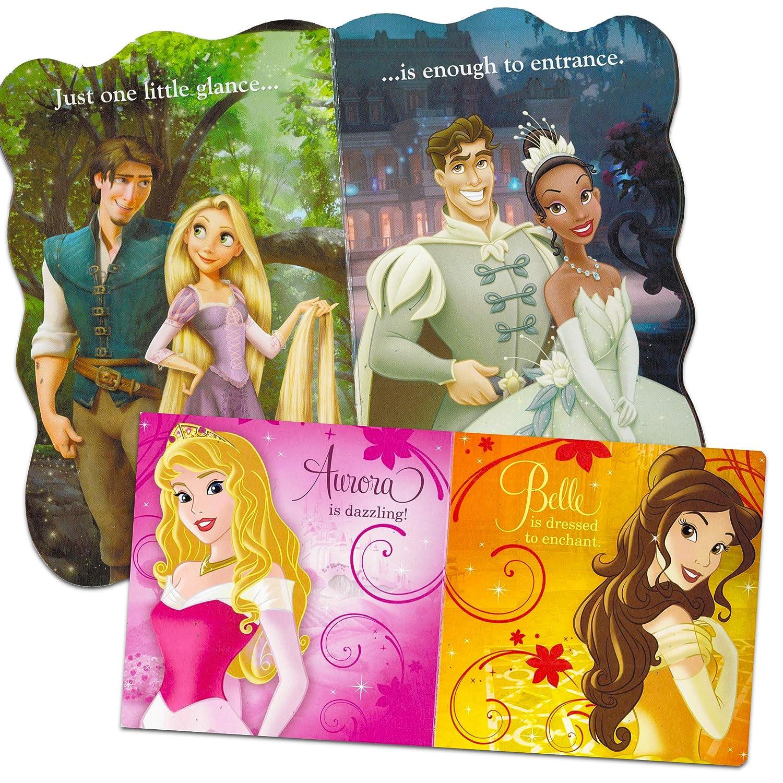 Belle and Other Disney Favorites Ariel Disney Frozen Pixar Princess Board Book Ultimate Set ~ Bundle Includes 12 Books for Toddlers Featuring Elsa Cinderella