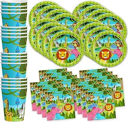 Amazon.com: Safari - Juego de servilletas con diseño de ...