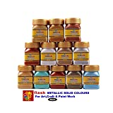 Flash Assorted Acrylic Metallic Colours 50 Ml (10 Shades) 10 Pieces Box