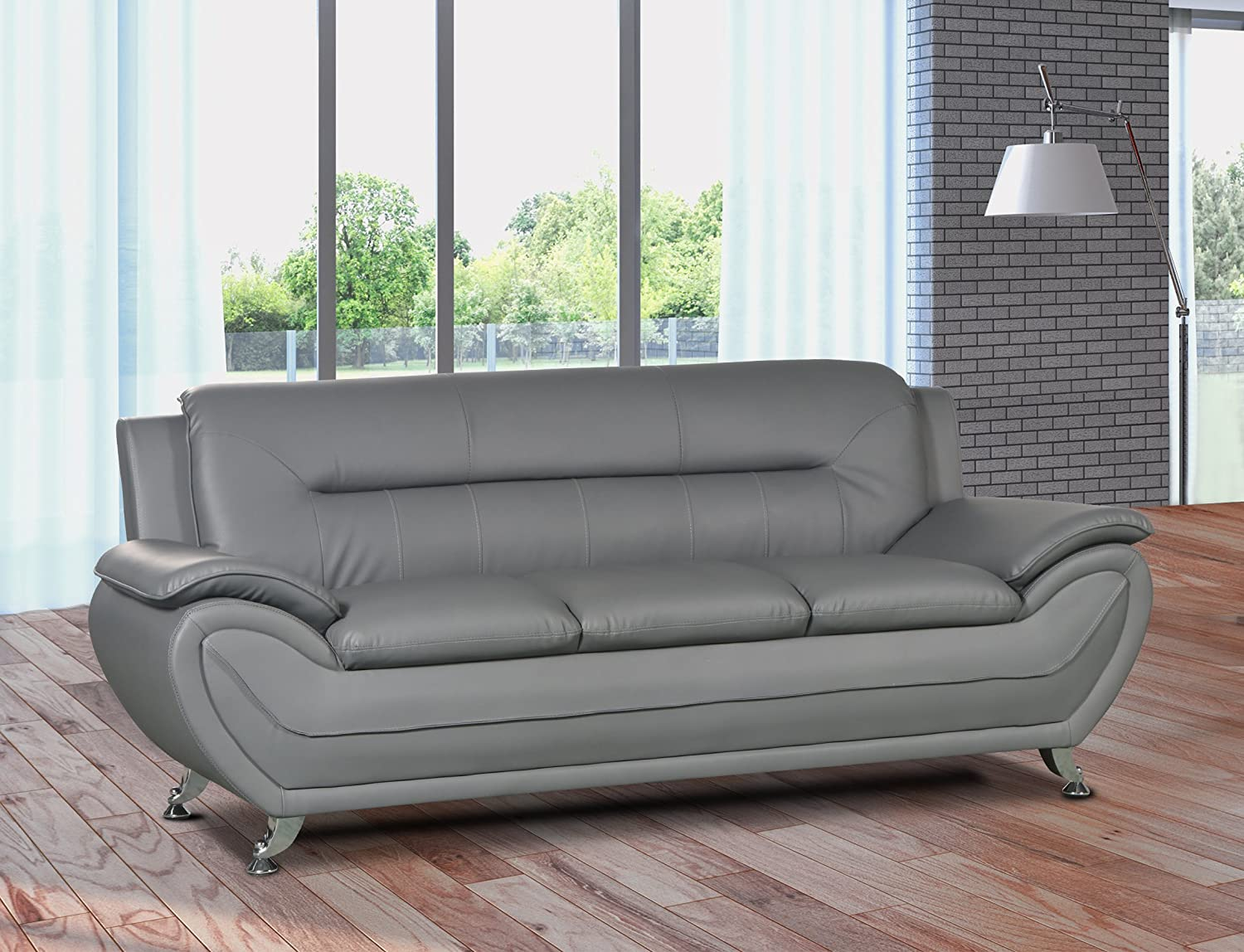 Outstanding Us Livings Anya Contemporary Modern Living Room Sofa Gray Best Image Libraries Thycampuscom