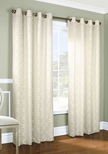 Thermalogic Anna Lace Panel Set, 108 by 84-Inch, Ivory