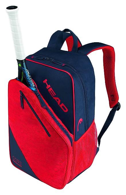 Head Core 9R Mochila Bolsa para Raquetas de Tenis, Color Azul Oscuro y Rojo,