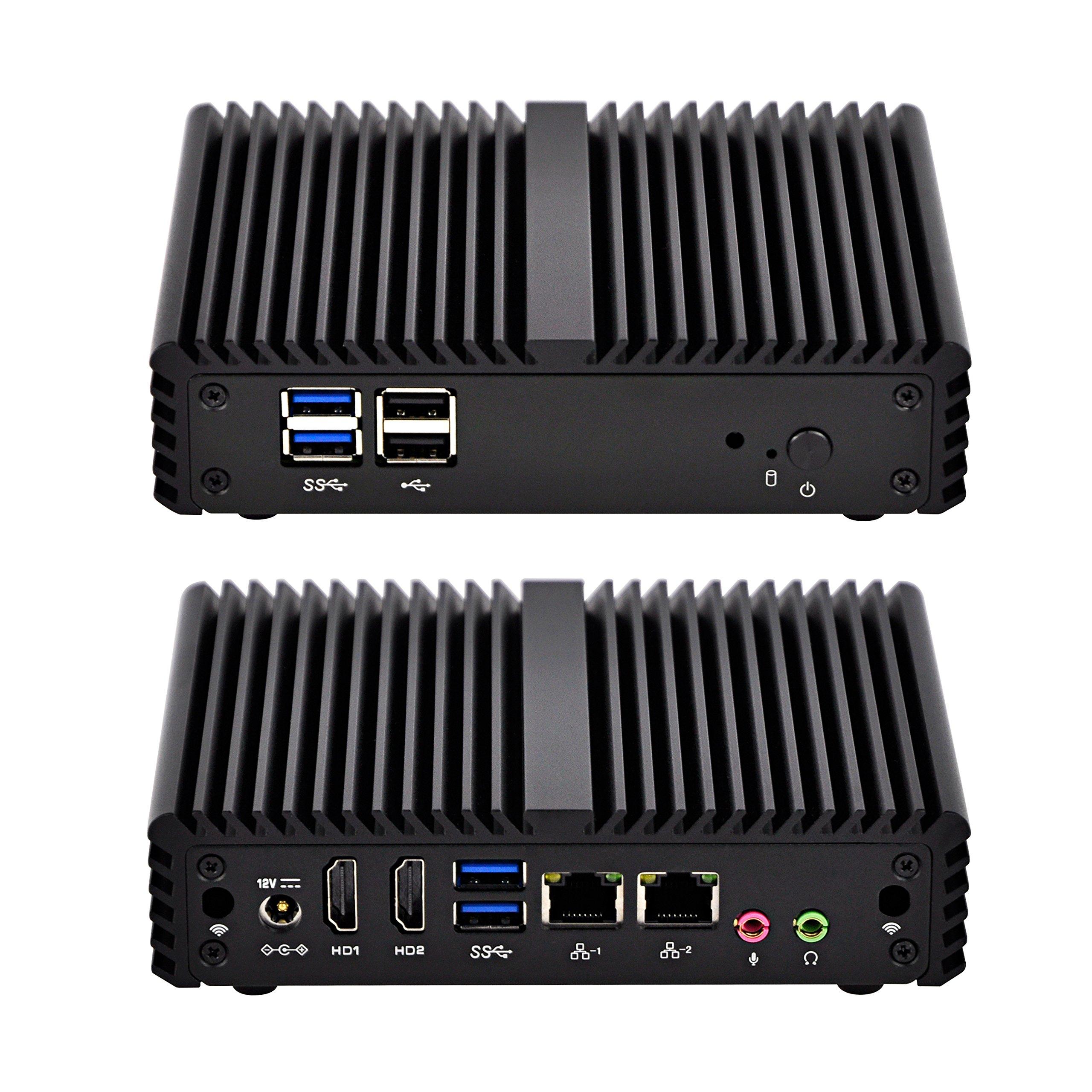 Nuc Mini Pc Qotom Q150S-S07 Intel Celeron J3160 ,Up To 2.24 Ghz AES-NI Low Power£¬Black,Linux (2Gb Ram 32Gb Ssd)